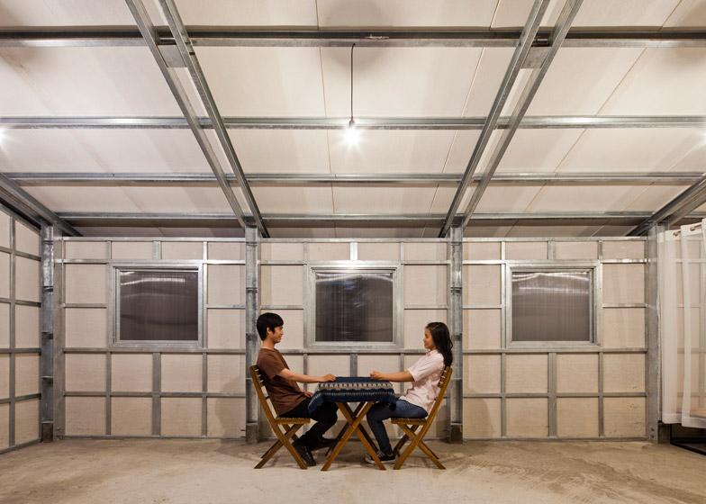 estructuras internas de acero de pequea casa anti sismica