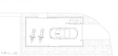 Plano de primer piso de casa muy pequeña