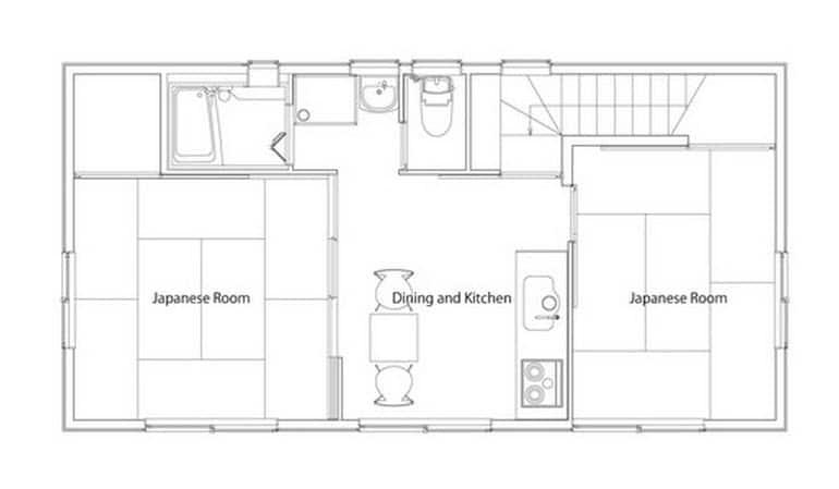 Planos de casa econ mica de dos pisos construye hogar for Pisos de 40 metros cuadrados