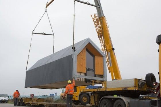 Transporte de casa prefabricada