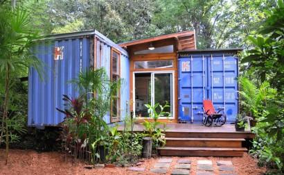 Casa reciclada hechos de container