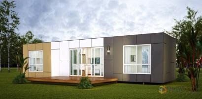 Casas hecha de contenedor moderna construcción