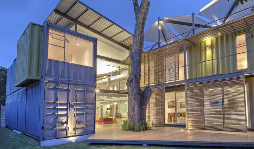 Diseño de casa moderna contenedor