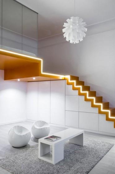 Diseño de escaleras modernas de apartamento