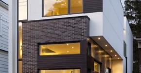 planos de casa de dos pisos moderna construccin en pequeo terreno logra diseo interiores luminosos