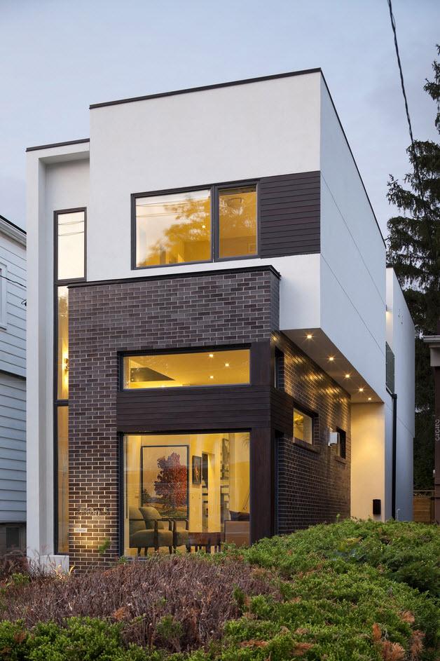 Planos de casa de dos pisos con fachadas e interiores for Disenos de fachadas de casas modernas