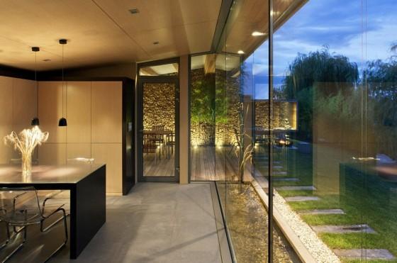 Diseño de interiores de cabaña moderna