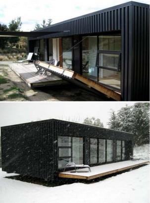 Diseño de pequeña casa contenedor con protección 001