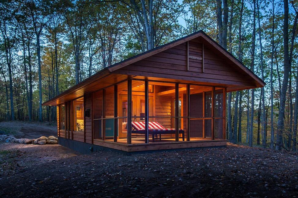 diseo de pequea casa construida en madera