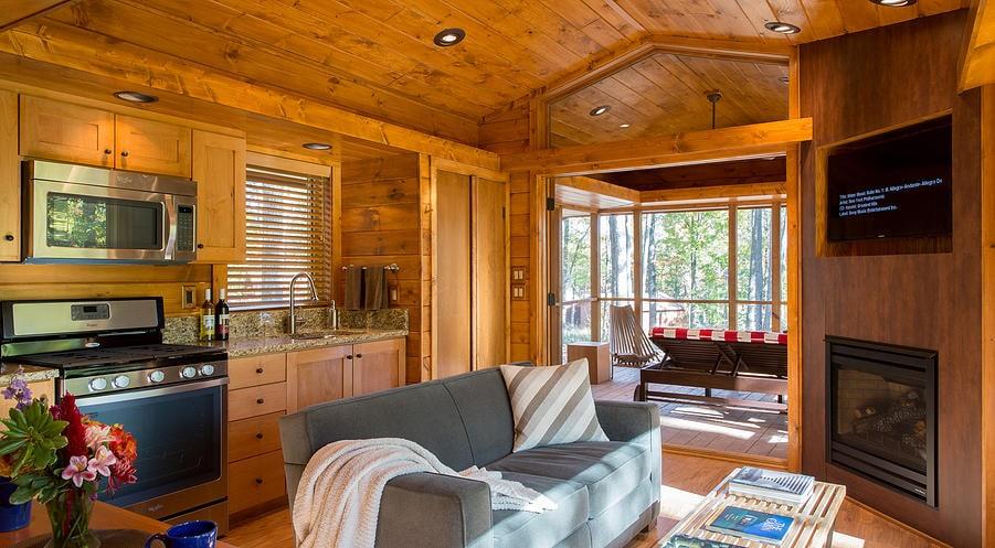 diseo de sala de casa de madera