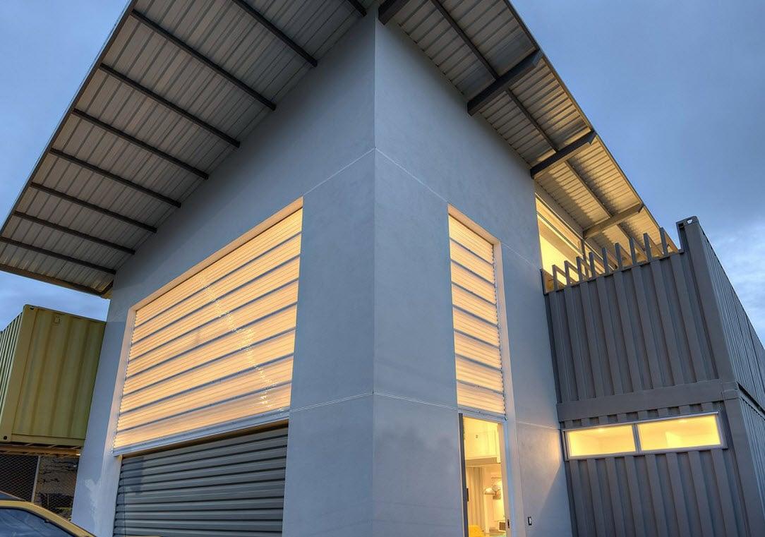 Planos y construcci n de casa contenedor construye hogar - Materiales de construccion para fachadas ...