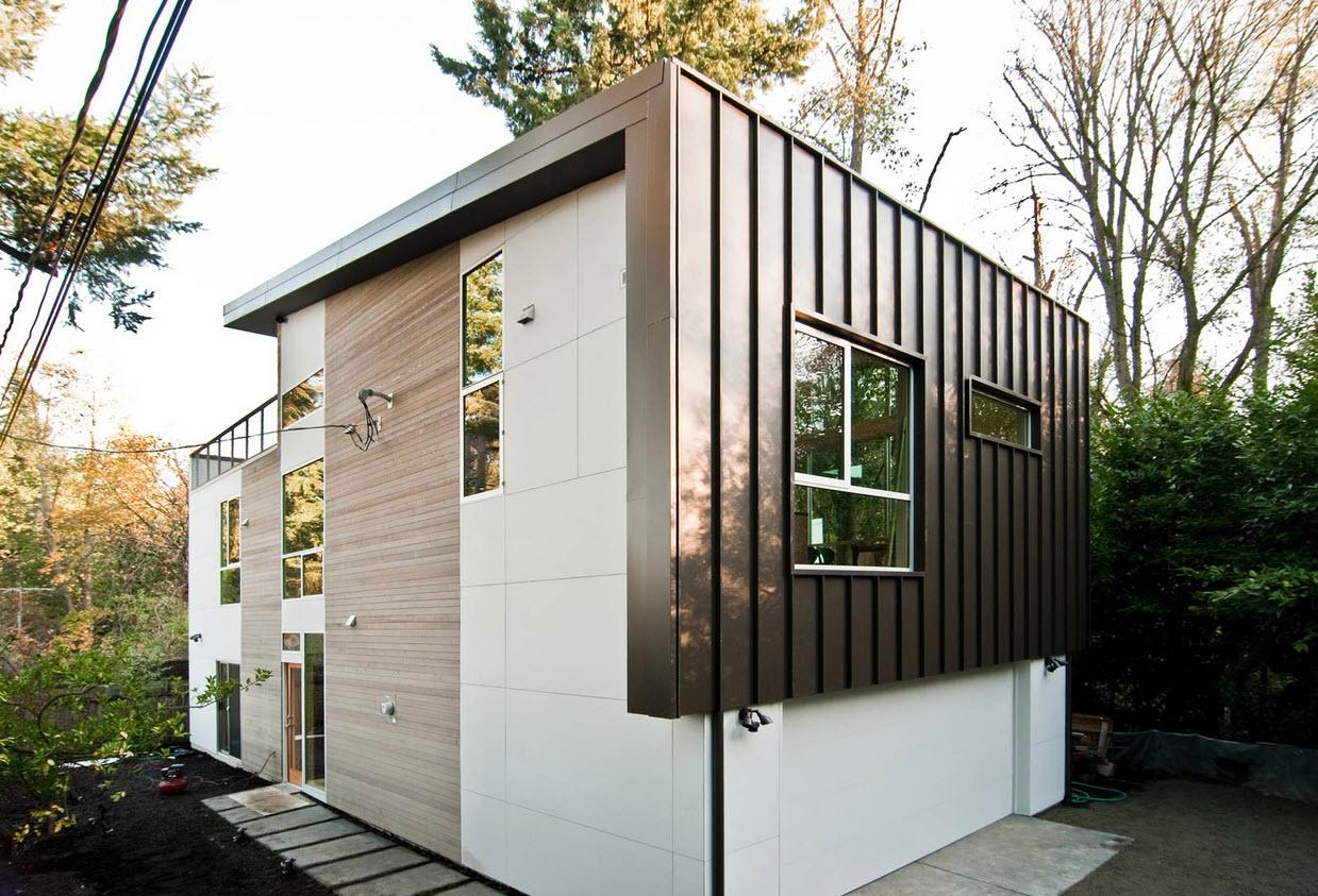 Planos de casa de dos pisos moderna construye hogar for Mini casas modernas