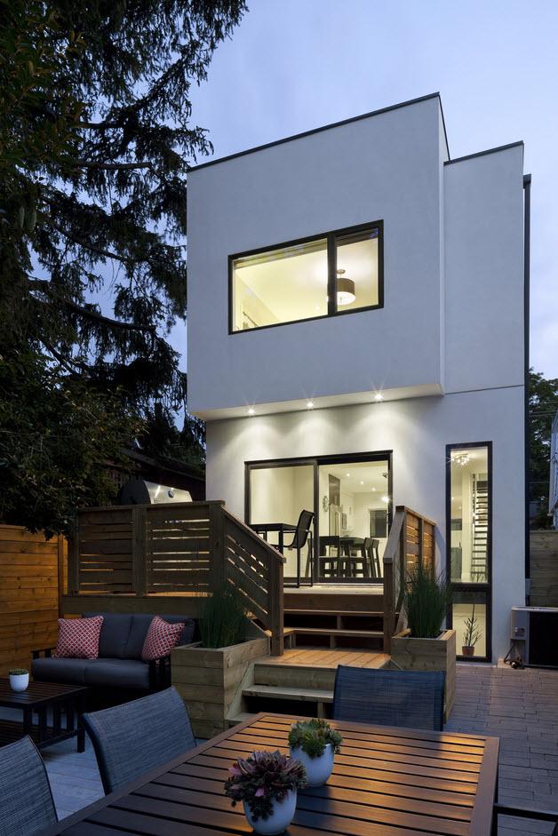 Planos de casa de dos pisos moderna, construcciu00f3n en pequeu00f1o terreno ...