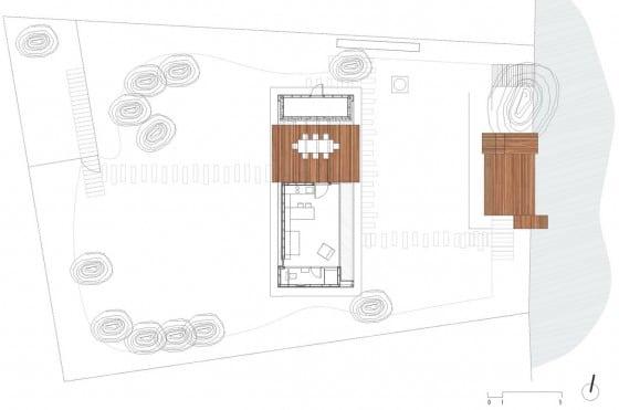 Plano de cabaña pequeña de madera