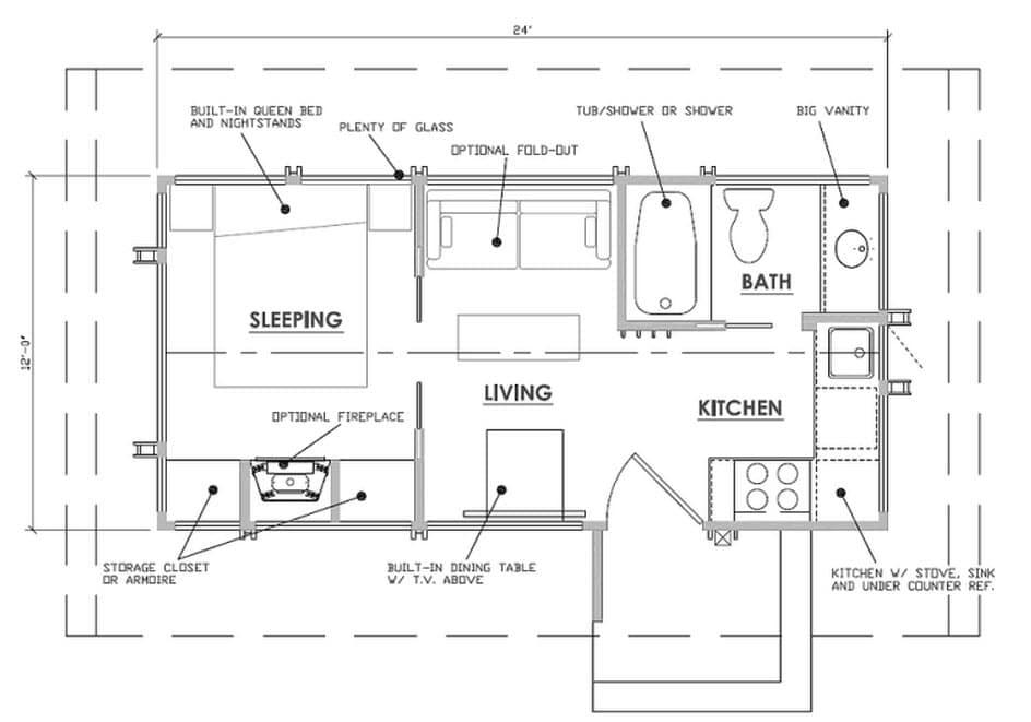 Dise o de casa peque a de madera planos construye hogar for Planos de madera