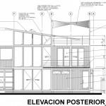 Plano de fachada posterior