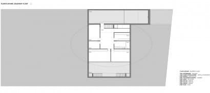 Plano del sótano de casa moderna