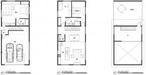 planos de casa de dos pisos moderna construccin funcional y equipada en poco espacio