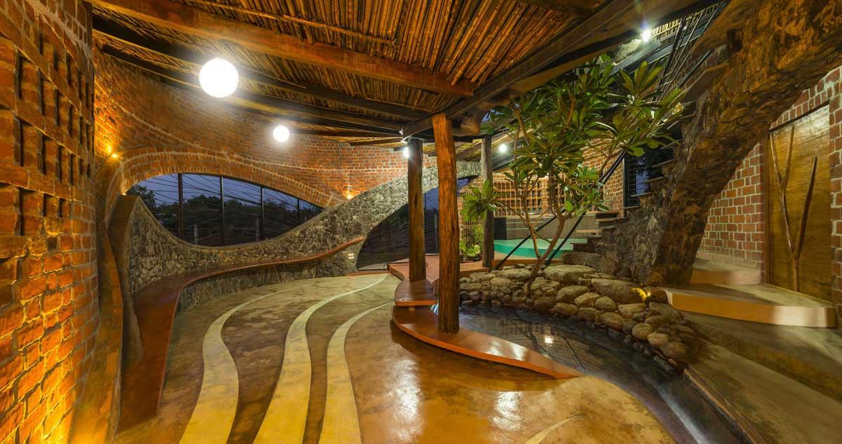 Dise o de casa org nica r stica con planos construye hogar for Decoracion rustica de interiores