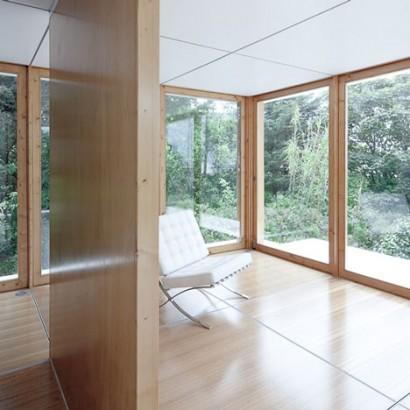 Diseño de interiores de pequeña casa monovolumen