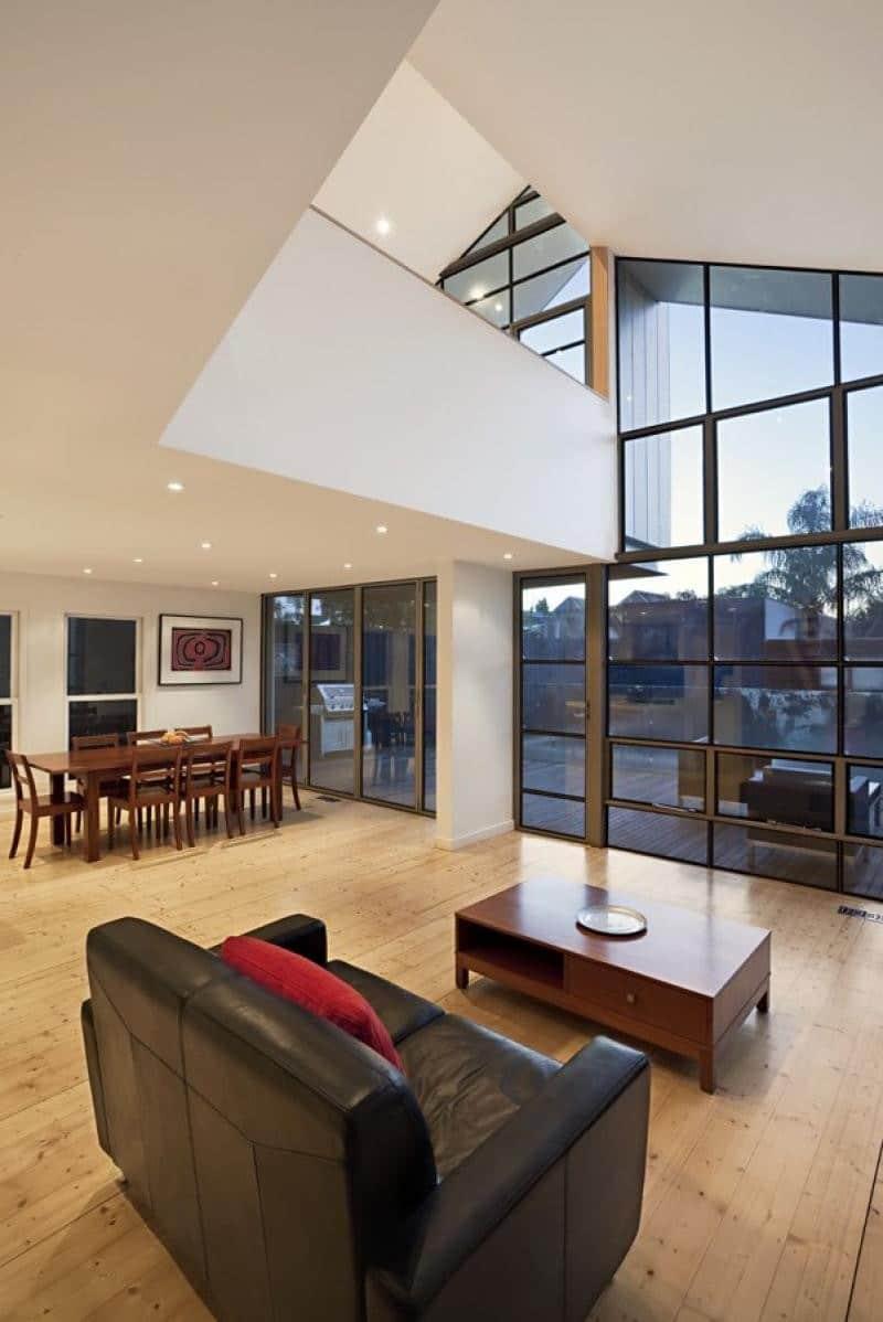 Planos de casa de dos pisos h brida construye hogar for Sala de estar segundo piso