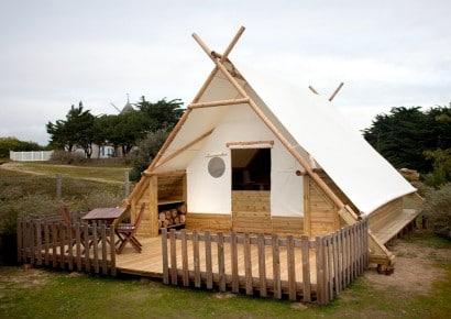 Diseño de pequeña casa ecológica para acampar