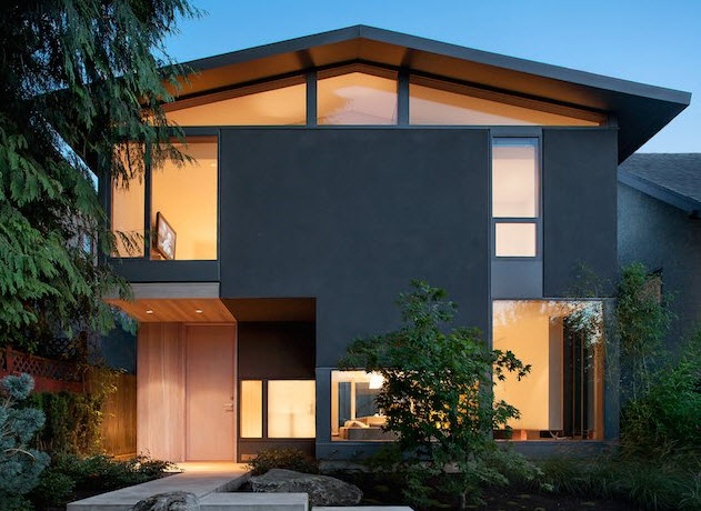 Fachada de casa moderna de dos plantas construye hogar for Casa moderna 2 plantas