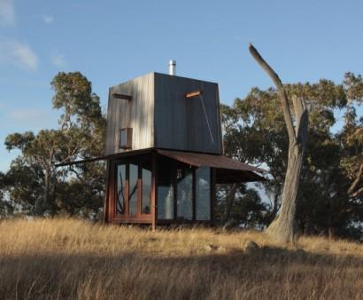 Modelo de casa pequeña para acampar