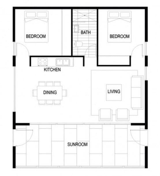 Dise o de planos casa autosustentable construye hogar for Planos de casas de dos dormitorios