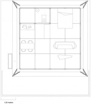 Plano de pequeña casa monovolumen
