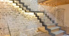 interiores diseo de casa de piedra construccin de tres pisos combina lo antiguo y moderno