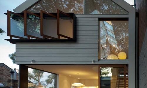 Diseño casa pequeña moderna dos pisos