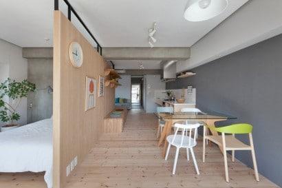 Diseño de comedor y dormitorio