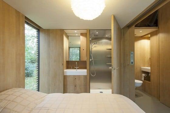 Diseño de dormitorio de cabaña de madera