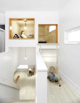 Diseño de interiores de pequeña casa de dos pisos