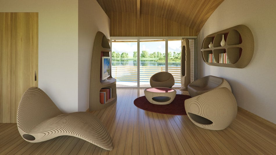 Diseño de muebles modernos de madera ecológicos