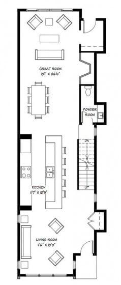 Planos casa dos pisos angosta y larga dise o construye for Planos para construir una cocina solar
