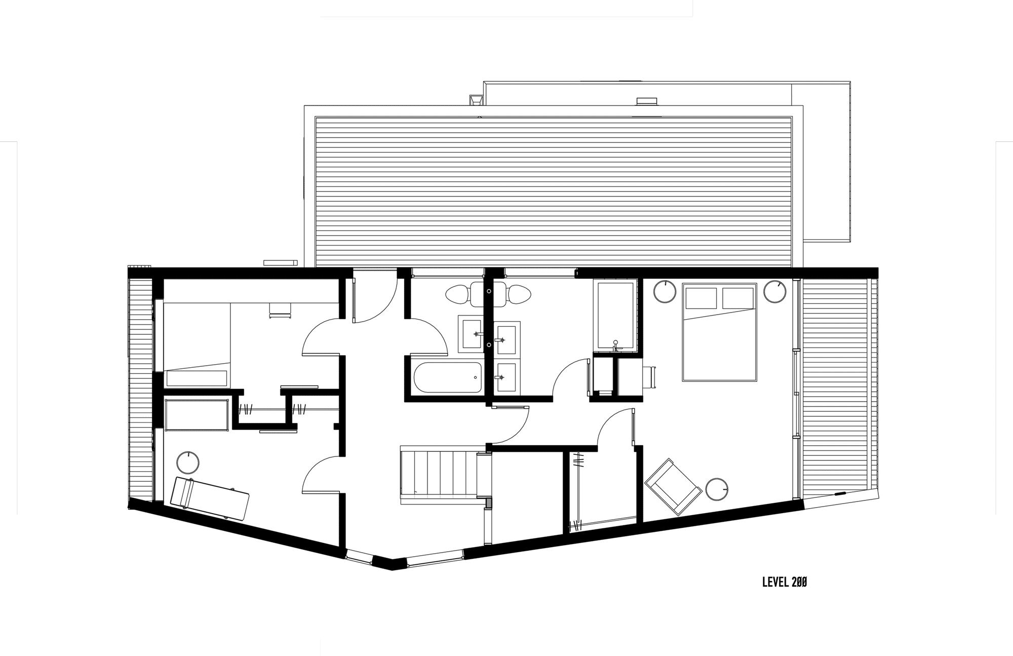 Ba os en segunda planta - Planos de casas de 2 plantas ...