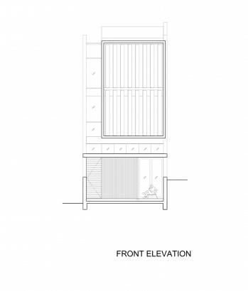 Plano de fachada principal