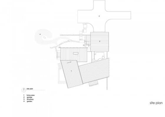 Plano de techos de casa de campo de madera