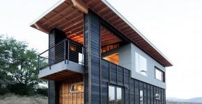 diseo de cabaa moderna de dos pisos pequea construccin se destaca por su hermosa estructura de madera