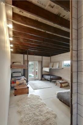 Diseño de dormitorios de cabaña moderna