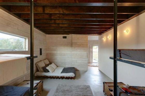 Diseño de interiores de dormitorio rústico