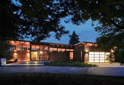 Diseño de moderna casa de madera