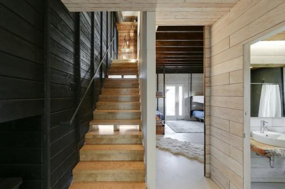 Escaleras de cabaña moderna