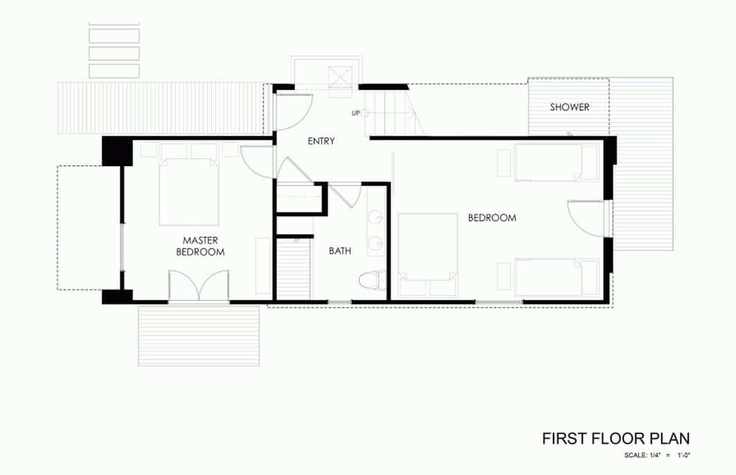 planos de caba a moderna de dos pisos construye hogar