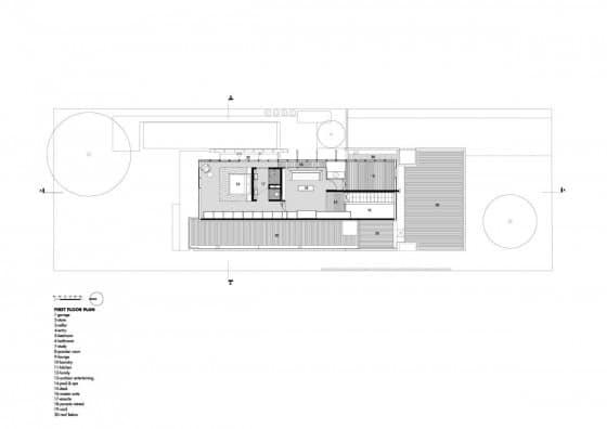 Plano de casa de dos pisos - segundo piso