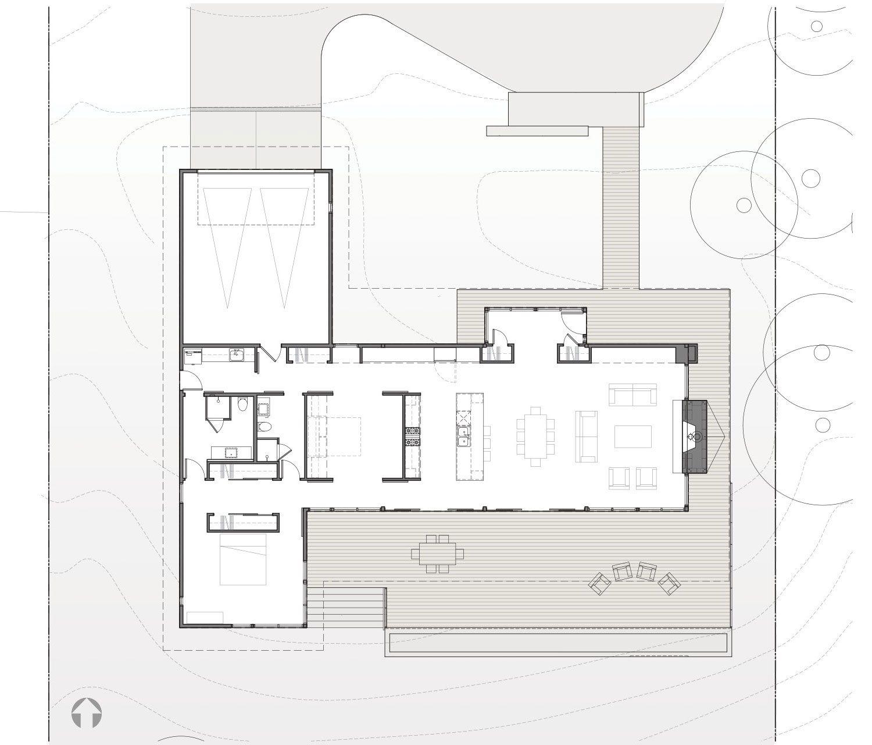 Dise o de casa de madera de una planta construye hogar - Planos casa de madera ...