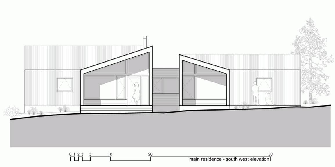 Plano de elevaci n de casa de campo moderna construye hogar for Planos de casas de campo modernas