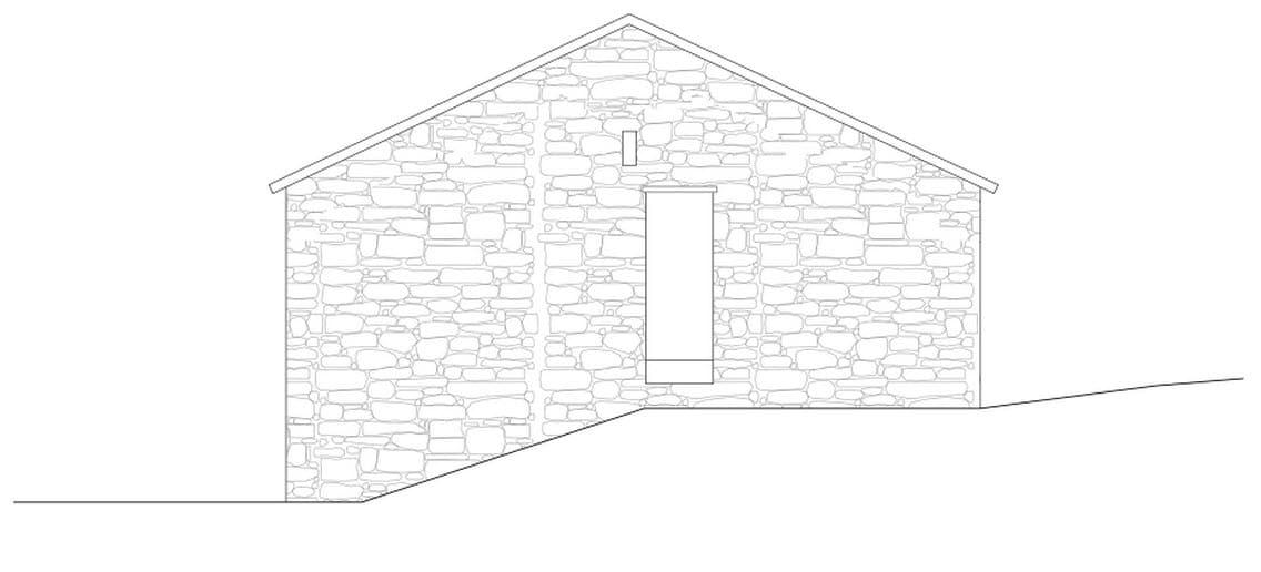 Plano de fachada este de casa de piedra construye hogar - Planos de casas de piedra ...